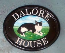 Personalized Hand Painted House Sign (10.25 inches x 8.25 inches; 260mm x210mm)